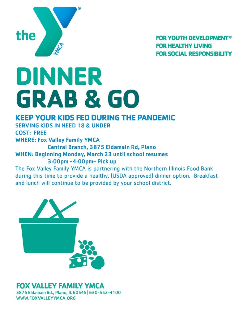 YMCA Offers Grab & Go Dinner
