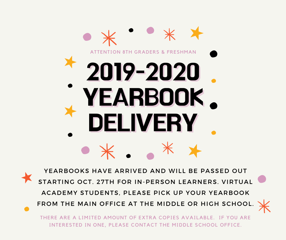 2019-2020 Yearbook Delivery
