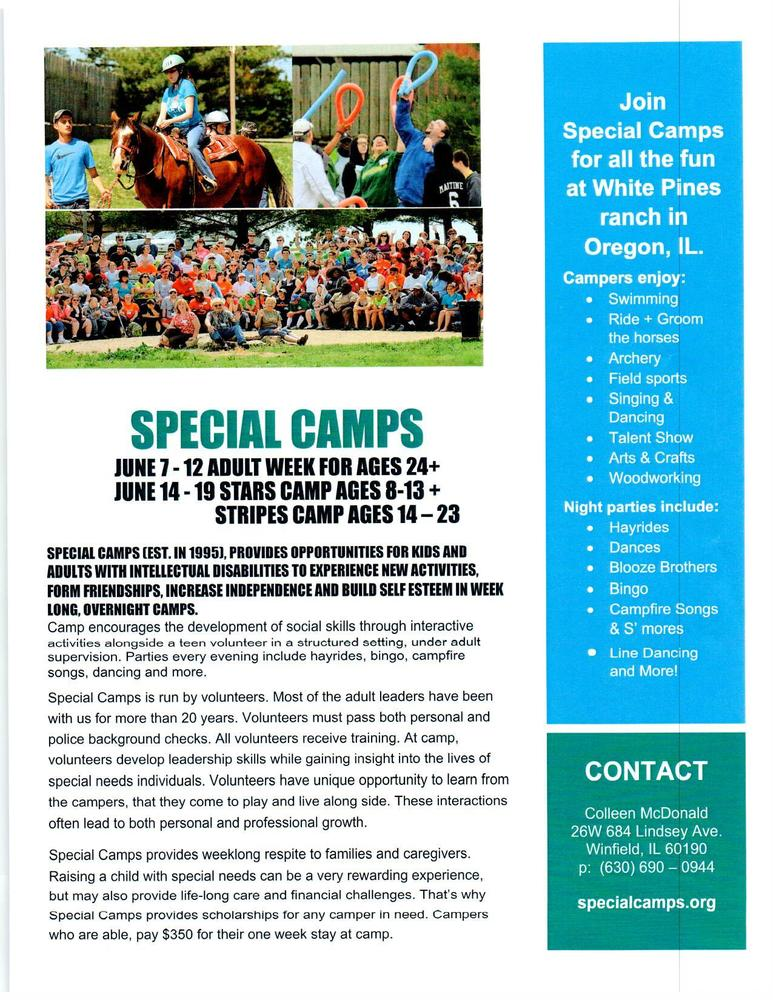 Special Camps - Camper Information