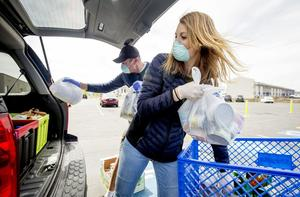 Drive-Thru Food Pantry in Plano on June 19