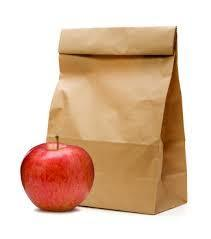 Sack lunch with apple