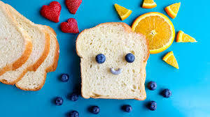 Bread with Smiley Face & Fruit