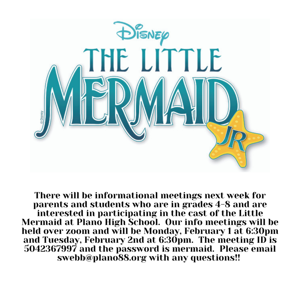 Little Mermaid Informational Meeting for Parents