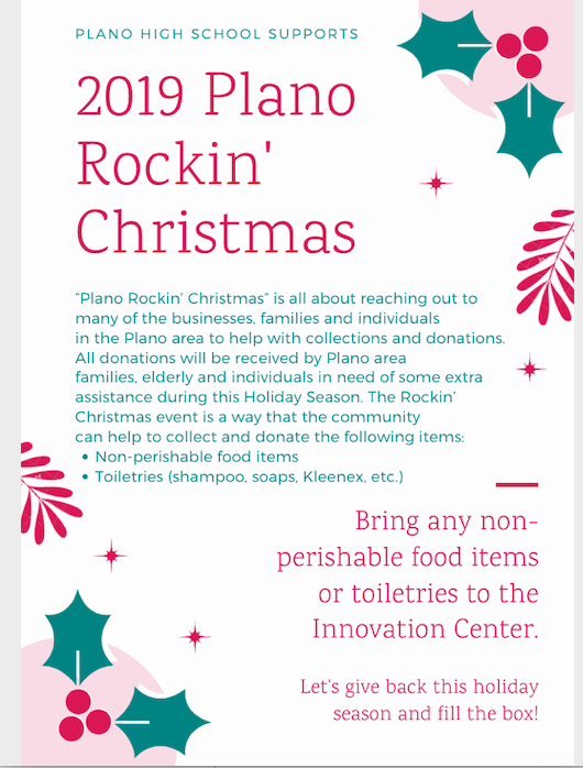 Plano Rockin' Christmas Flyer Part 1