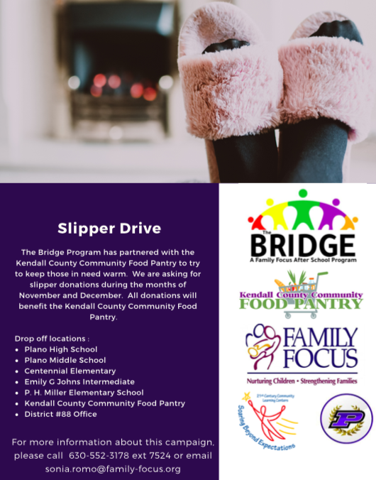 Family Focus Slipper Drive Flyer